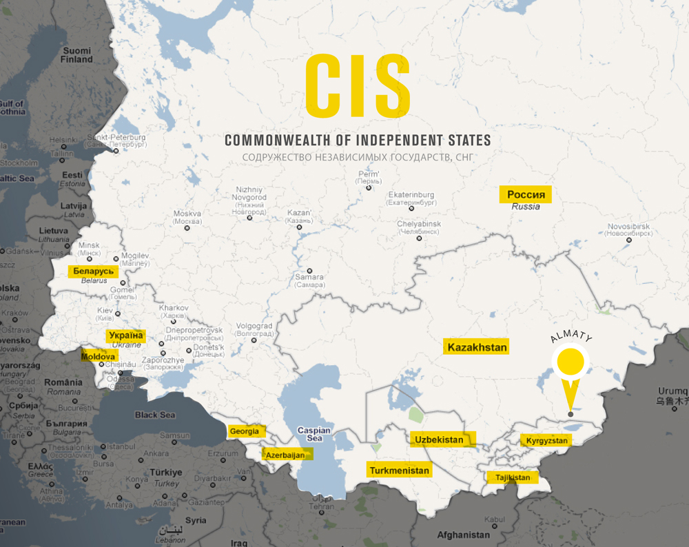 cis countries map
