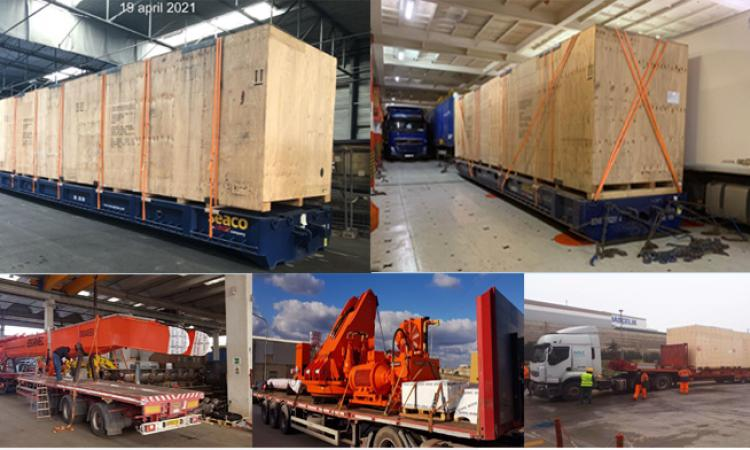 Our latest cross trade and import OOG shipments.