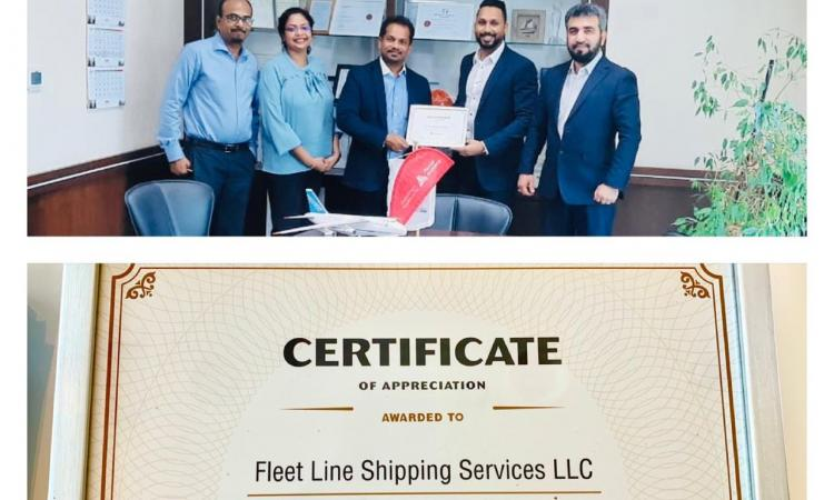 FLS was awarded with the best performer for OOG (Project Cargo) for the year 2019-20 by Hapag-Lloyd
