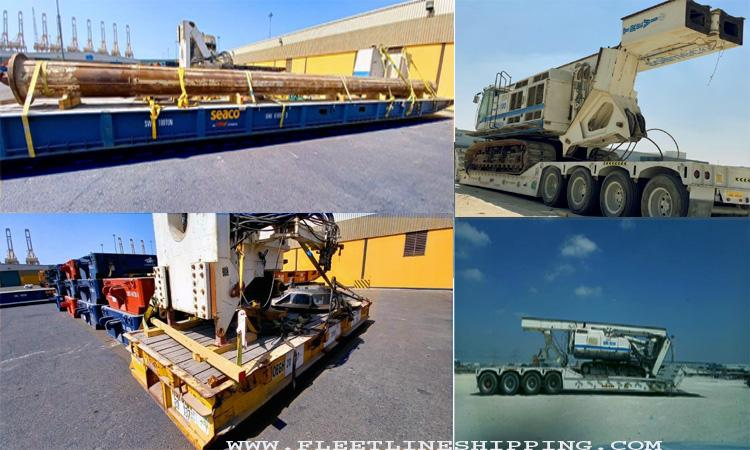 Out of the box thinking makes heavy drilling machine move on a Ro-Ro ship from Dubai.