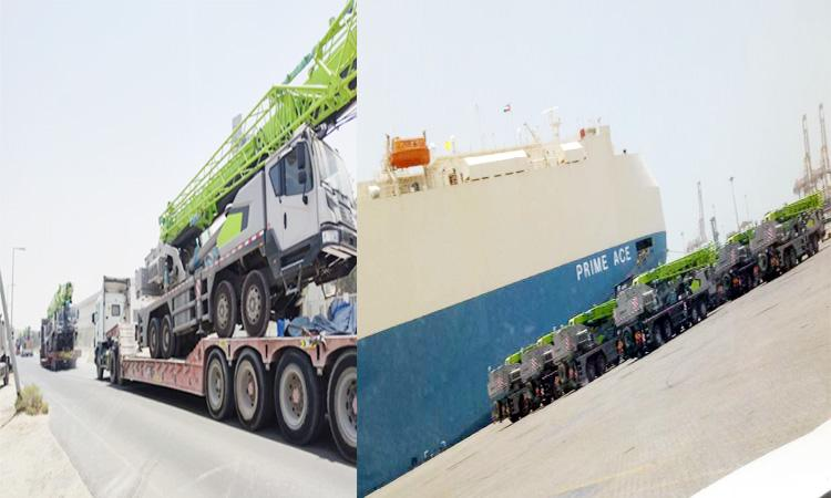 Ro-Ro solution for mobile cranes.