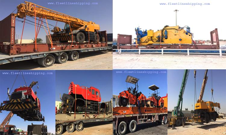 Our last week's loading of heavy equipments from Dubai.