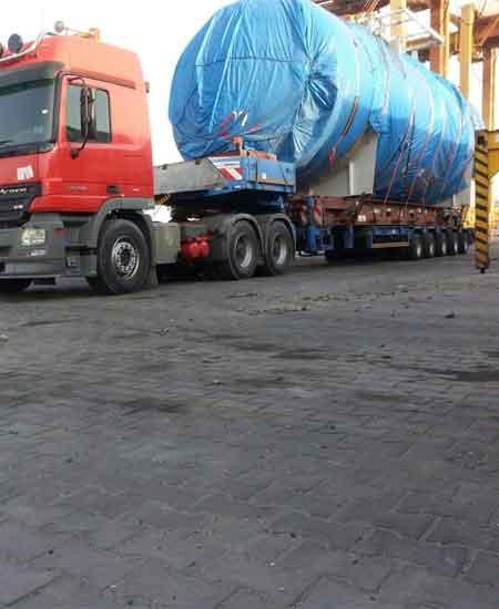 42 Ton machinery loaded on FLS HD F/R from JNP to Umm Qasir
