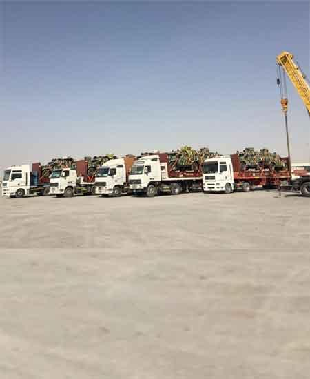 21 Military shipments handled in F/R containers