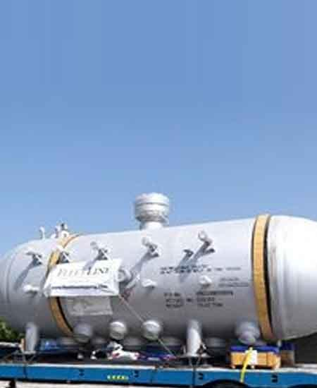 90 Tons pressure vessels from Dubai to Houston