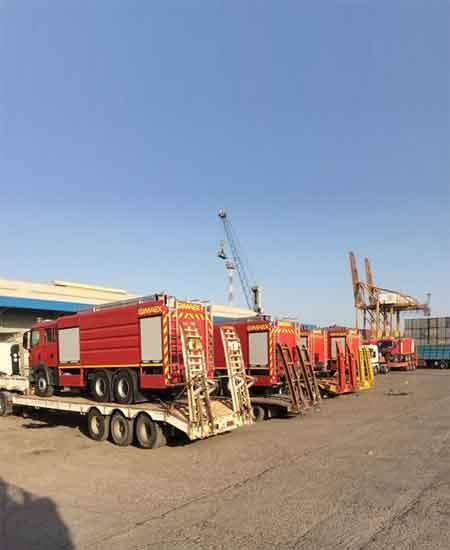 18 fire fighting units handled from Jebel Ali to Iraq